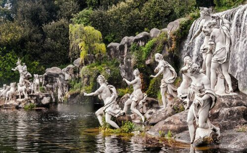 6 Fountain Diana Atteone Waterfall Caserta Palace1 1 500x309, Unofficial Website of the Royal Palace of Caserta