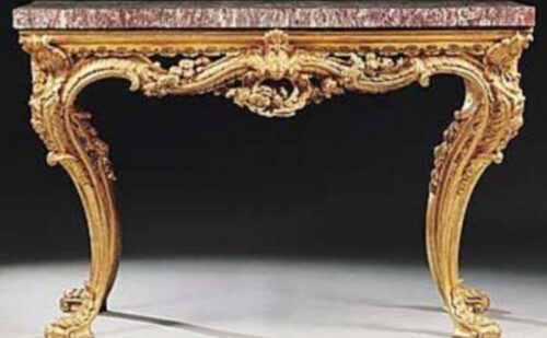 A Very Fine Italian Carved Giltwood Console Table 500x309, Unofficial Website of the Royal Palace of Caserta