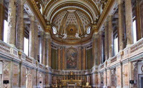 Cappella Caserta Bombardamento Prima Dopo Restauro 1 500x309, Sito non ufficiale della Reggia di Caserta