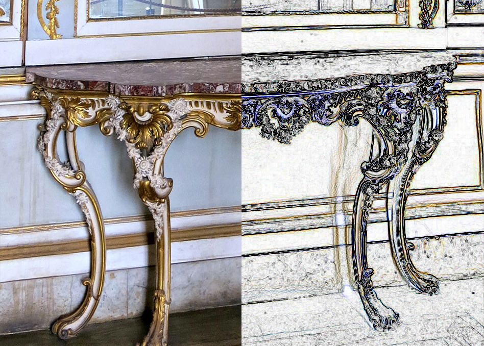 Comparison between decorative styles