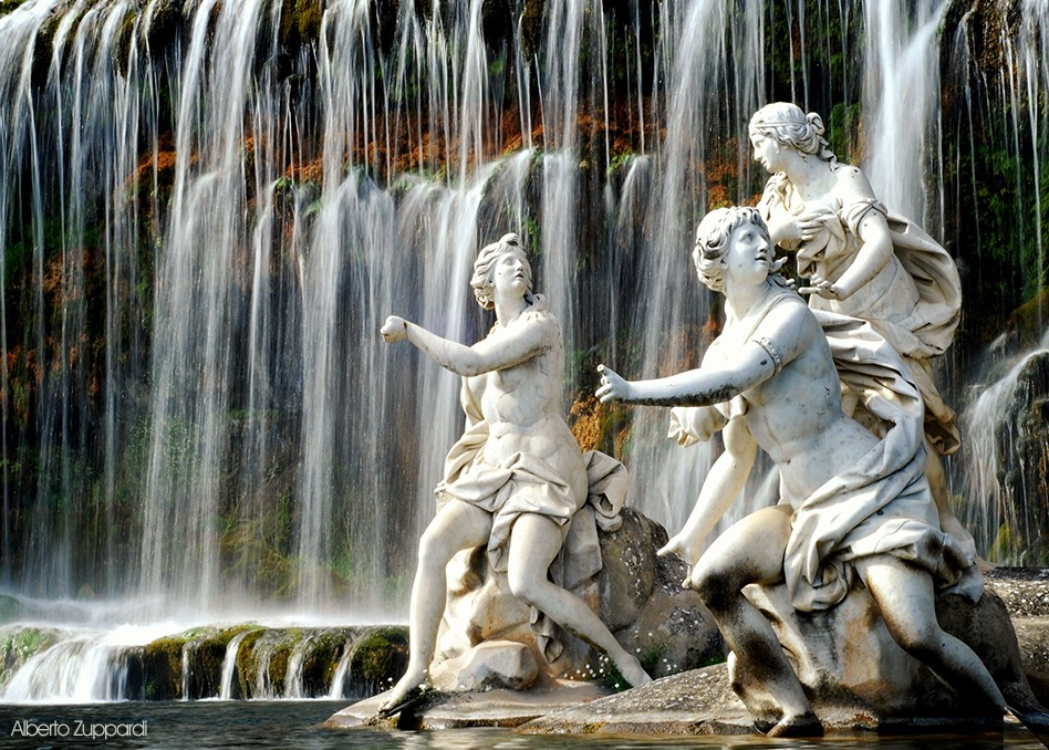 fountains waterway of the reggia of caserta