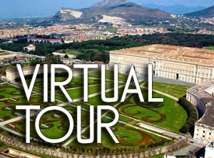 logo of the visrtual tour's index page of the royal palace of caserta