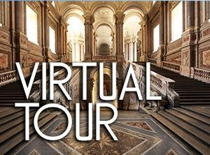 Caserta Palace Virtual Tour Staircase 1, Unofficial website of the Royal Palace in Caserta