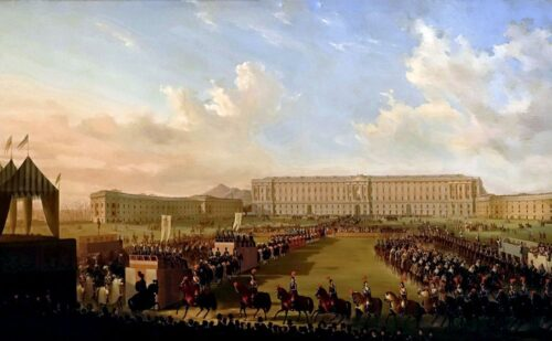 Caserta Quadro Piazza Torneo Fergola 1 500x309, Unofficial Website of the Royal Palace of Caserta
