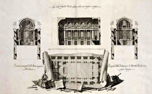 Caserta Vanvitelli Dichiarazione Dei Disegni Cappella 500x309, Sito non ufficiale della Reggia di Caserta