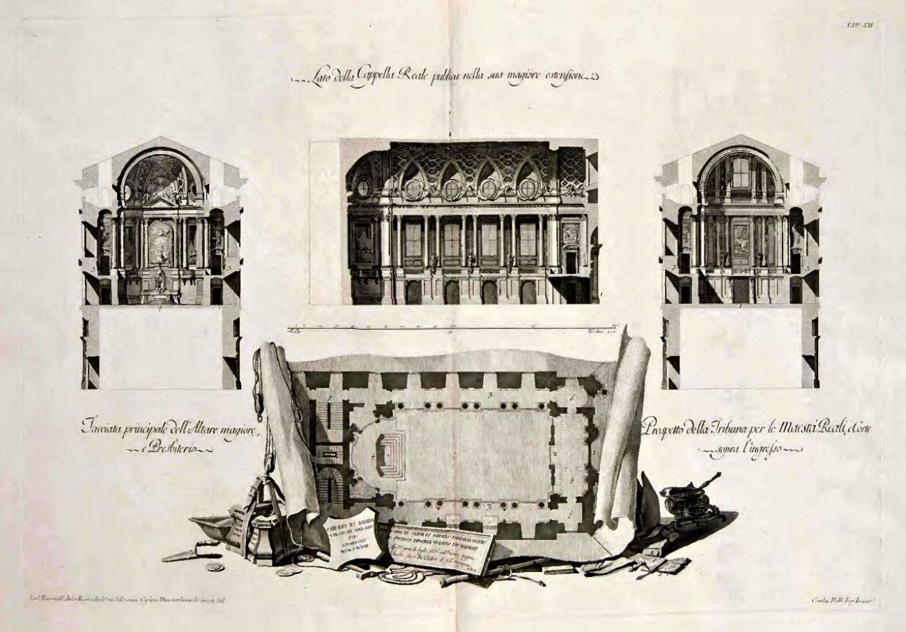 Caserta Vanvitelli Dichiarazione Dei Disegni Cappella, Unofficial website of the Royal Palace in Caserta