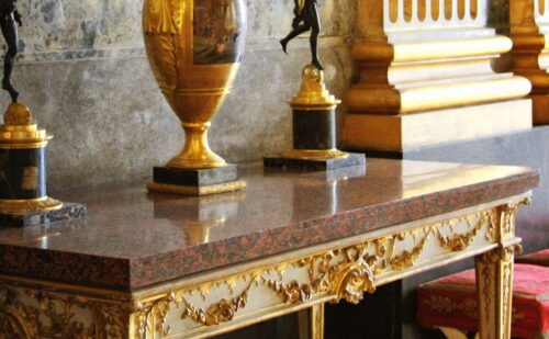 Consolle Bianco Oro Neoclassico Waterm 1 500x309, Unofficial website of the Royal Palace in Caserta