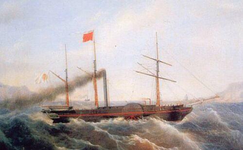 La Ferdinando I, la prima nave a vapore del Mediterraneo.
