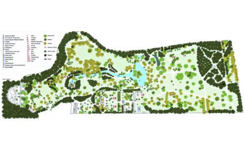 Map of the English Garden Giardino Inglese