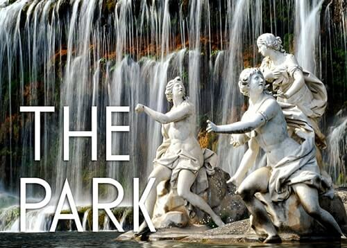 logo of the index page of the park of the royal palace of caserta