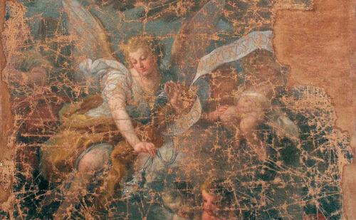 Reggia Di Caserta Cappella Palatina 1943 Frammento Dipinto Sebastiano Conca 1 500x309, Sito non ufficiale della Reggia di Caserta