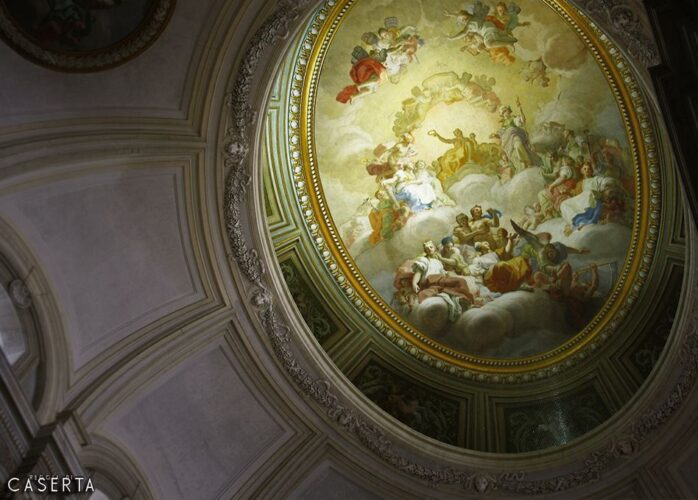 Scalone Cupola 1 698x500, Unofficial Website of the Royal Palace of Caserta