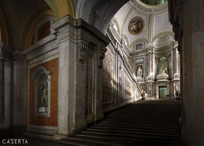Scalone Panorama 700x500, Unofficial website of the Royal Palace in Caserta