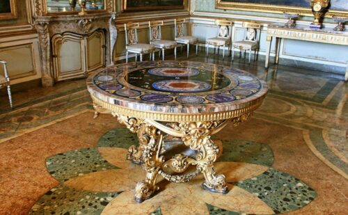 Tavolo Pietra Dura 1 500x309, Unofficial Website of the Royal Palace of Caserta