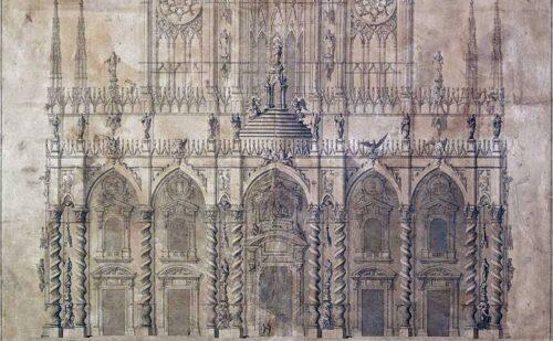 Il progetto per la facciata del duomo di Milano