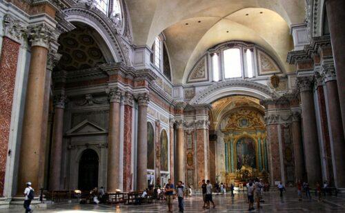 Interno della basilica di Santa Maria degli Angeli - Roma